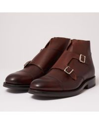 Grenson - Hansel Double Monk Strap Boot - Lyst