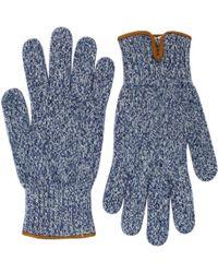 Universal Works - Peak Wool Navy Gloves 11551 - Lyst