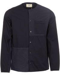 Folk - Combination Pop Stud Shirt - Lyst