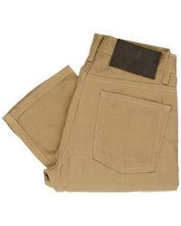 Naked & Famous - Naked And Famous Weird Guy Tan Beige Selvedge Jeans 013993 - Lyst