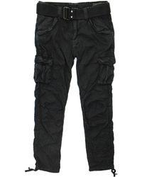 Schott Nyc - Tr Battle 70 Black Cargo Trousers Trbatle70Pkr - Lyst
