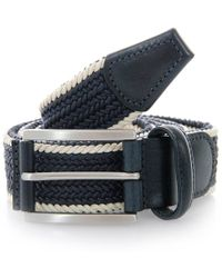 Andersons - Twin Braided Twine & Leather Belt - Lyst