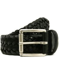 Andersons - Andersons Braided Black Leather Belt A1097 Af2984 Pl178 N1 - Lyst