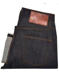 Naked & Famous - Naked And Famous Easy Guy Dark Wash Selvedge Denim Jeans 015506 - Lyst