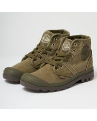 Palladium - Pallabrouse Washed Canvas Mid Boots - Lyst