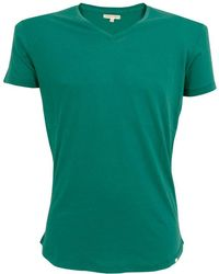 Orlebar Brown - Bobby V-Neck Lagoon T-Shirt 252502 - Lyst