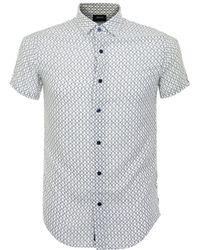 Armani Jeans | Fantasia Short Sleeve Shirt | Lyst