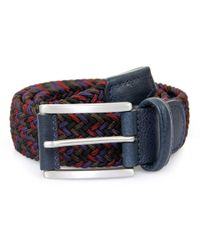 Andersons - Anderson Woven Multi Purple Burgundy Braided Belt - Lyst