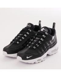 Nike - Air Max 95 Prm - Black   White - Lyst c50b8ef6b