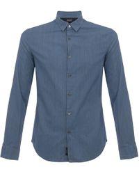 Armani Jeans - Pin Striped Denim Shirt - Lyst