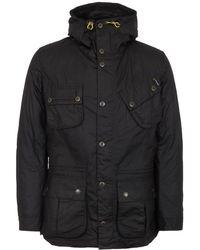 Barbour - Fog Parka Waxed Jacket - Lyst