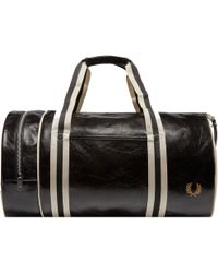 Fred Perry Authentic - Black Classic Barrel Bag - Lyst