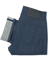Naked & Famous - Workman Blue Weird Guy Selvedge Denim Jeans - Lyst