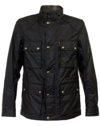 Belstaff | Trialmaster Black Waxed Jacket | Lyst