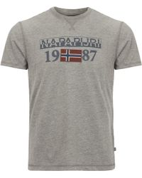 Napapijri - Solin Short Sleeve T-shirt - Lyst