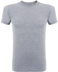 Naked & Famous - Naked And Famous Vintage Circular Knit Grey T-shirt - Lyst