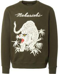 Maharishi - White Tiger Sweatshirt - Lyst