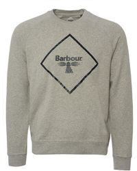 Barbour - Beacon Logo Sweatshirt - Grey Marl - Lyst