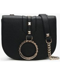 fc9dd2193b Versace Jeans - Abakan Black Circular Logo Two Way Bag - Lyst