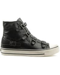 Ash | Virgin Bis Black Leather High Top Trainer | Lyst