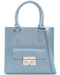 Daniel - Muddler Small Blue Leather Structured Tote Bag - Lyst