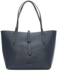 COACH - Market Polished Dark Denim Marigold Leather Tote Bag - Lyst