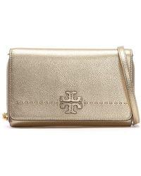Tory Burch - Mcgraw Gold Leather Cross-body Bag - Lyst