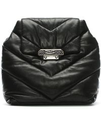 Class Roberto Cavalli - Nappa Luxe Black Quilted Backpack - Lyst