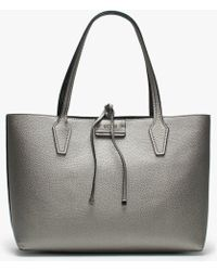 Guess Bobbi Pewter Logo Reversible Tote Bag