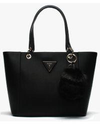 Guess - Kamryn Black Tote Bag - Lyst