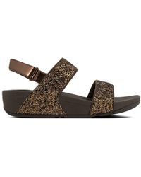Fitflop - Glitterball Bronze Ankle Strap Sandals - Lyst