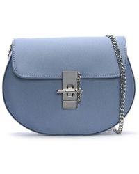 Daniel - Affect Blue Satin Shoulder Bag - Lyst