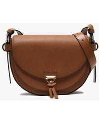 9aafd12ffe3 Michael Kors - Medium Mara Acorn Leather Saddle Bag - Lyst