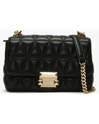 Michael Kors - Small Sloan Ii Black Quilted Leather Cross-body Bag Colou - Lyst