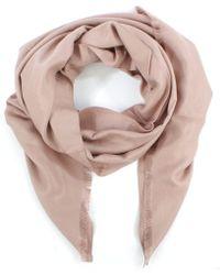 Daniel | Luxe Silk Mix Pink Scarf | Lyst