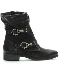 Daniel - Manta Black Leather Biker Boots - Lyst