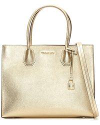 Michael Kors | Large Mercer Pale Gold Large Tote Bag | Lyst