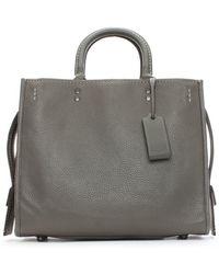 COACH - Rogue Glovetanned Pebble Grey Leather Satchel Bag - Lyst