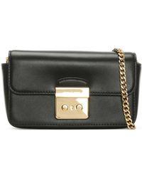 Michael Kors - Sloan Black Leather Chain Strap Wallet - Lyst