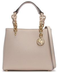 Michael Kors - Small Cynthia North South Soft Pink Leather Satchel Bag - Lyst