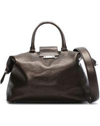 Class Roberto Cavalli - Phoenix Bronze Pebbled Leather Weekend Bag - Lyst
