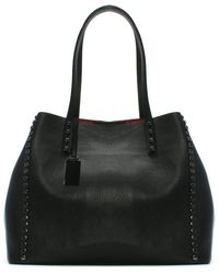 Daniel - Mooch Black Tumbled Leather Studded Tote Bag - Lyst