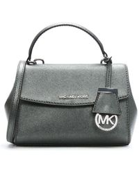 Michael Kors - Xs Light Pewter Saffiano Leather Top Handle Satchel Bag C - Lyst