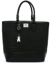 Fly London - Lile Black Woven Shopper Bag - Lyst