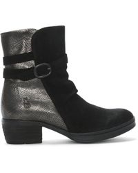 Fly London - Cimp Black Suede Contrast Ankle Boots - Lyst