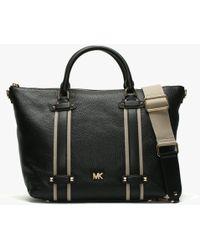 Michael Kors - Large Griffin Black Leather Satchel Bag - Lyst