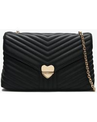 Valentino By Mario Valentino - Large Rapunzel Black Quilted Shoulder Bag - Lyst