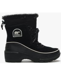 Sorel - Torino Black & Light Bisque Suede Lace Up Ankle Boots - Lyst