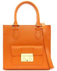 Daniel - Muddler Small Orange Leather Structured Tote Bag - Lyst