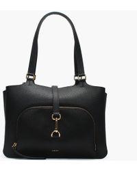 DKNY - Paris Black Pebbled Leather Large Tote Bag - Lyst